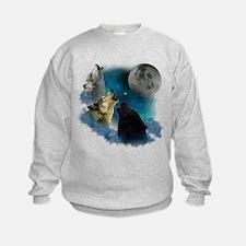 Northern Lights Wolfs Howling Sweatshirt