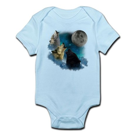 Northern Lights Wolfs Howling Infant Bodysuit