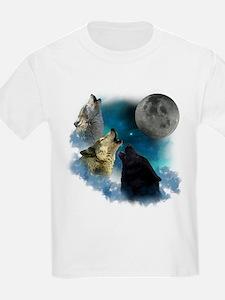 Northern Lights Wolfs Howling T-Shirt