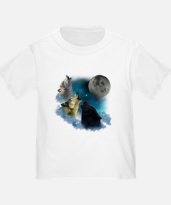 Northern Lights Wolfs Howling T