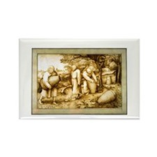 Medieval Beekeepers Rectangle Magnet