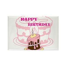 OYOOS Birthday Cake design Rectangle Magnet