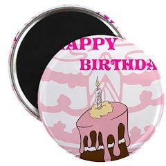 OYOOS Birthday Cake design Magnet