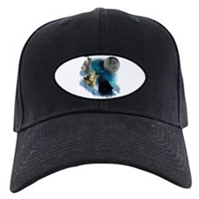 Northern Lights Wolfs Howling Baseball Hat