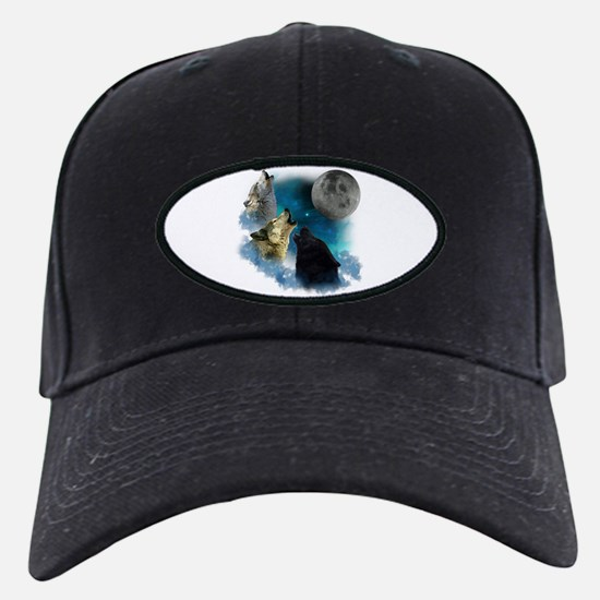 Northern Lights Wolfs Howling Baseball Hat