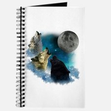 Northern Lights Wolfs Howling Journal