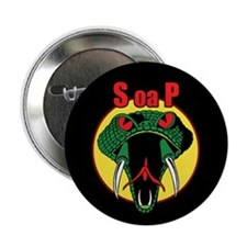 """One Mean Snake 2.25"""" Button (100 pack)"""