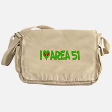 I Love-Alien Area 51 Messenger Bag