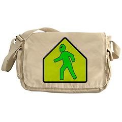 Alien Crossing Messenger Bag