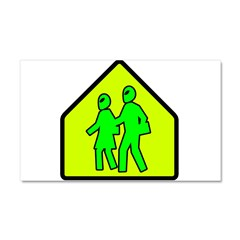 Alien School Xing Car Magnet 20 x 12