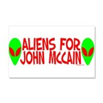 Aliens For John McCain Car Magnet 20 x 12