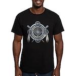 Winter Blue Dreamcatcher Men's Fitted T-Shirt (dar