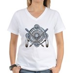 Winter Blue Dreamcatcher Women's V-Neck T-Shirt