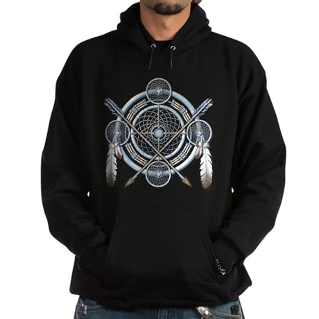 Winter Blue Dreamcatcher Hoodie (dark)