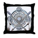Winter Blue Dreamcatcher Throw Pillow