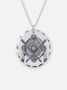 Winter Blue Dreamcatcher Necklace