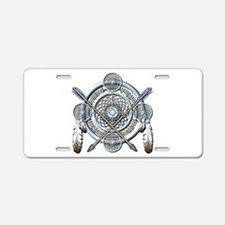 Winter Blue Dreamcatcher Aluminum License Plate