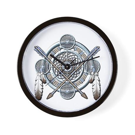Winter Blue Dreamcatcher Wall Clock