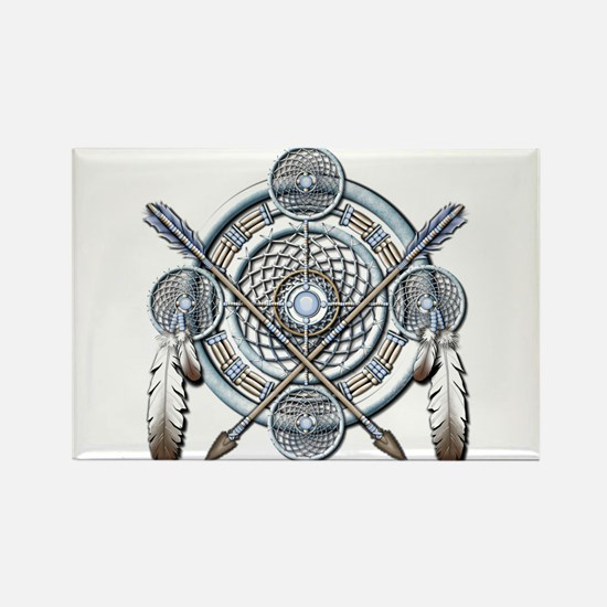 Winter Blue Dreamcatcher Rectangle Magnet