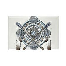 Winter Blue Dreamcatcher Rectangle Magnet (10 pack