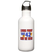 Cool 42 year old birthday design Water Bottle