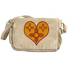New Mexico Zia Heart Messenger Bag