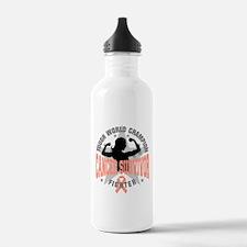 Uterine Cancer Tough Survivor Water Bottle