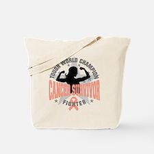Uterine Cancer Tough Survivor Tote Bag