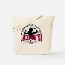 Throat Cancer Tough Survivor Tote Bag