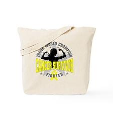 Sarcoma Cancer Tough Survivor Tote Bag