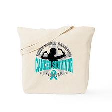 Ovarian Cancer Tough Survivor Tote Bag