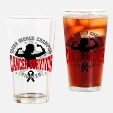 Melanoma Tough Survivor Drinking Glass