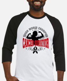 Melanoma Tough Survivor Baseball Jersey