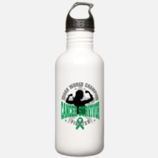 Liver Cancer Tough Survivor Water Bottle