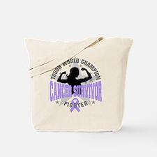 General Cancer Tough Survivor Tote Bag