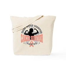Endometrial Cancer ToughSurvivor Tote Bag