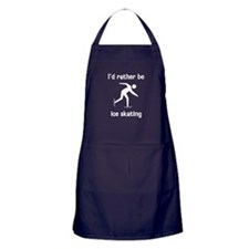 I'd rather be ice skating Apron (dark)