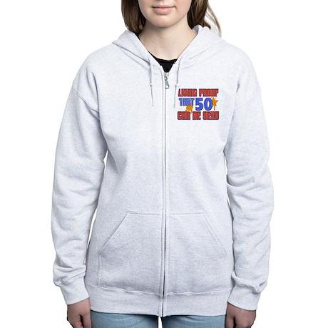 Cool 50 year old birthday design Women's Zip Hoodi