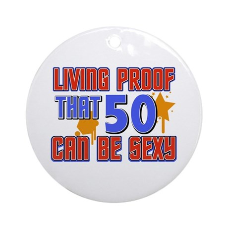 Cool 50 year old birthday design Ornament (Round)