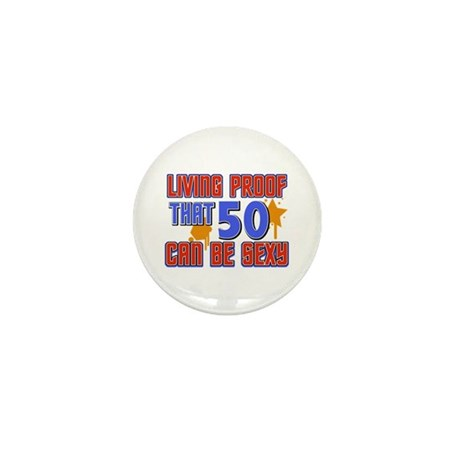 Cool 50 year old birthday design Mini Button (10 p