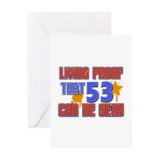 Cool 53 year old birthday design Greeting Card