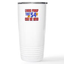 Cool 54 year old birthday design Travel Mug