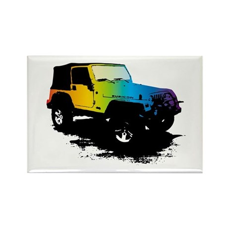 Jeep Stuff Rectangle Magnet