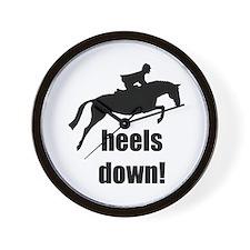 heels down jumper Wall Clock