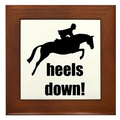 heels down jumper Framed Tile