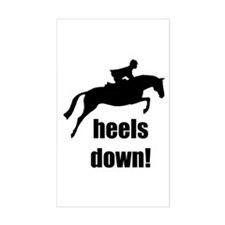heels down jumper Rectangle Decal