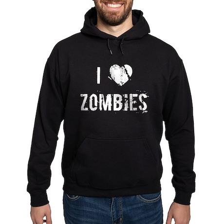 I Heart Zombies Hoodie (dark)