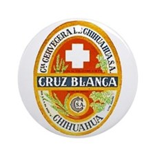 Mexico Beer Label 4 Ornament (Round)