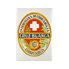 Mexico Beer Label 4 Rectangle Magnet