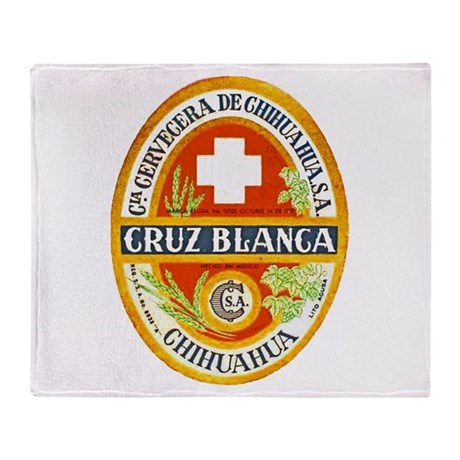 Mexico Beer Label 4 Throw Blanket